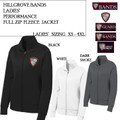 Ladies' Performance Fleece Full Zip Jacket with Embroidered HILLGROVE BANDS Logo Choice