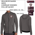 Men's Contrast Full Zip Jacket with Embroidered HILLGROVE BANDS Logo Choice