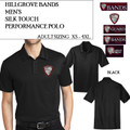 Men's Silk Touch Performance Polo with Embroidered HILLGROVE BANDS Logo Choice