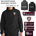 Adult Sizing Packable Jacket with Embroidered HILLGROVE BANDS Logo Choice