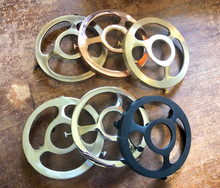 """Uno Threaded 4"""" Shade Fitter, Solid Brass, Light Sockets Sold Separate"""