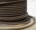 Black & Brown ZigZag Round Cloth Covered 3-Wire Cord, Nylon - PER FOOT