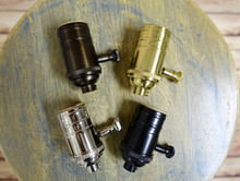 Solid Brass Dimmable Light Socket, Full Range Turn Knob Dimmer