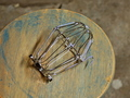 Nickel Wire Bulb Cage, Clamp On Lamp Guard