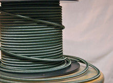 Fabric Braided Color Wire: Green Round Cloth Covered 3-Wire Cord, Nylon - PER FOOT