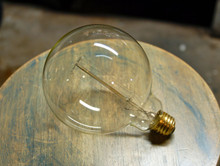 Edison Globe Light Bulb - G40 Size, 60 Watt Vintage Squirrel Cage Tungsten Filament