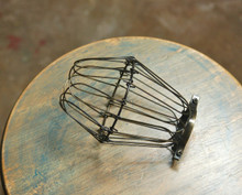 Antique Brass Wire Bulb Cage, Clamp On Lamp Guard