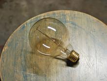 Edison Globe Light Bulb - G30 Size, 60 Watt Vintage Squirrel Cage Tungsten Filament
