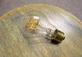 LED Edison Bulb - A19, Curved Vintage Style Spiral Filament, 4w/40w equivalent fully dimmable.