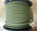 Green Parallel (Flat) Cloth Covered Wire, Cotton