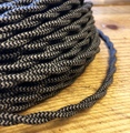 Black & Gray Pattern Twisted Cloth Covered Wire, Cotton