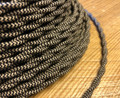 Black & Tan Pattern Twisted Cloth Covered Wire, Cotton