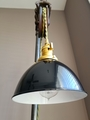 "Black Porcelain Enamel Shade: 7"" Industrial Dome, 2-1/4"" fitter, Metal Lampshade"