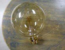Edison Globe Light Bulb - G30 Spiral Filament, 30 Watt Vintage Squirrel Cage Tungsten Filament