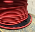 Red Round Cloth Covered 3-Wire Cord, Nylon - PER FOOT