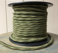 Green & Yellow Weave 3-Wire Overbraid Cloth Covered Cord (16 gauge), Cotton