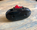"Inline Cord Switch - Vintage Black ""Blimp"" with Red Rocker - Heavy Duty, USA"