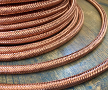 Copper Metal Braided Cord - Round 3-Wire Cable - PER FOOT