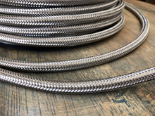 Steel Metal Braided Cord - Round 3-Wire Cable - PER FOOT