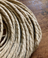 Natural Jute Covered (Rope Style) Twisted Wire - PER FOOT