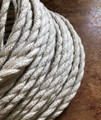 Whitewash Natural Jute Covered (Rope Style) Twisted Wire - PER FOOT