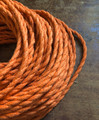 Orange Jute Covered (Rope Style) Twisted Wire - PER FOOT