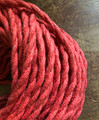 Red Jute Covered (Rope Style) Twisted Wire - PER FOOT