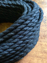 Black Jute Covered (Rope Style) Twisted Wire - PER FOOT