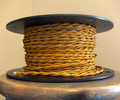 gold twisted cloth covered 2 wire
