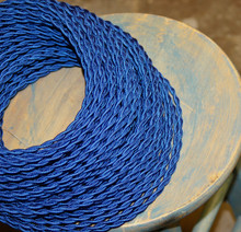 royal blue twisted cloth covered 2 wire