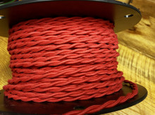 red cotton twisted cloth covered 2 wire