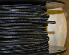 black flat parallel cloth covered 2 wire