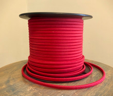 Red Parallel (Flat) Cloth Covered Wire, Cotton