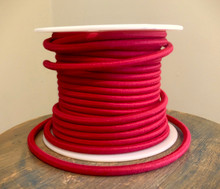 red round cloth covered 3 wire