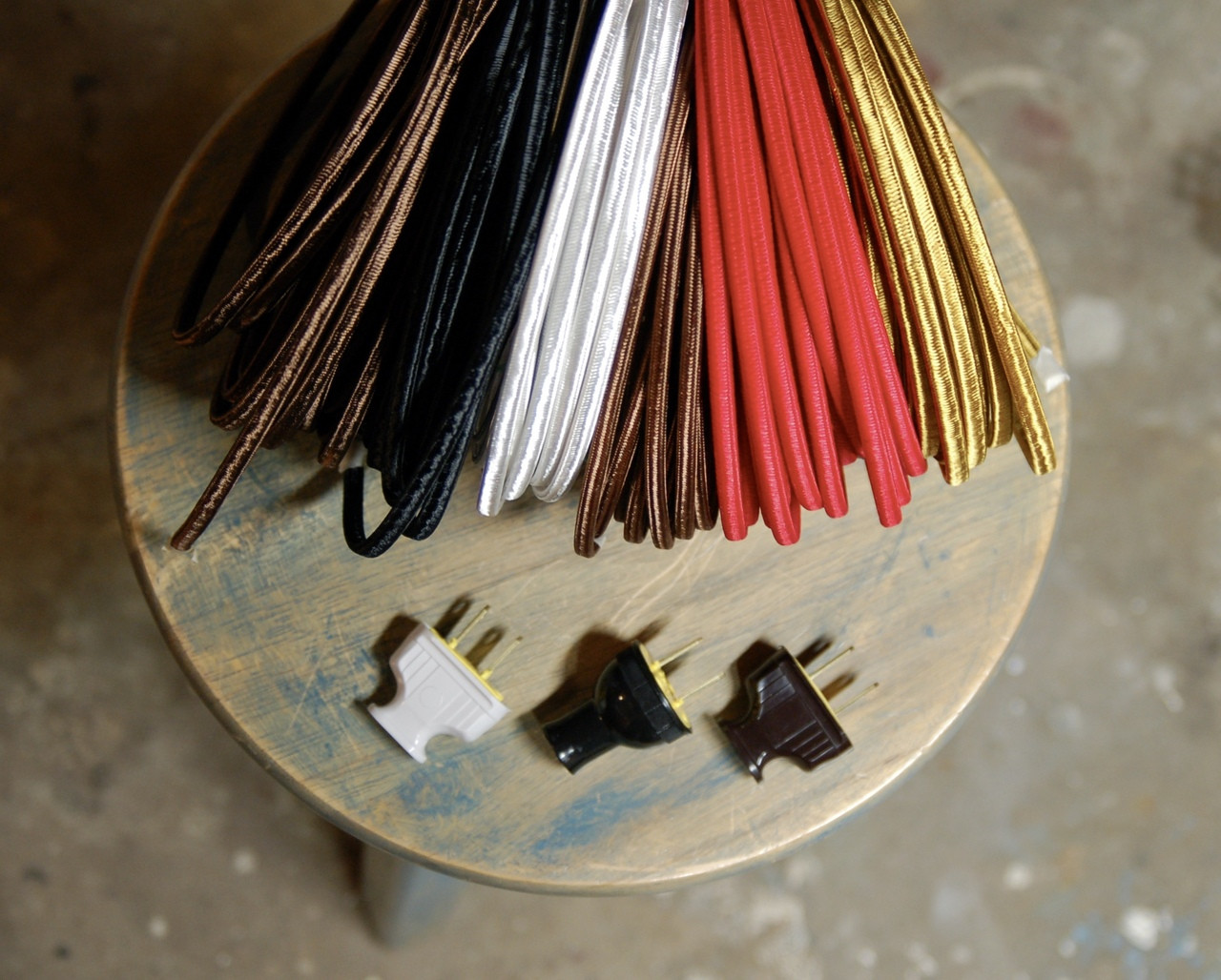 18ga Vintage Style Lamps Antique Lights Putty 2-Wire Cloth Covered Cord Cotton