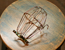 Brass Wire Bulb Cage, Clamp On Lamp Guard