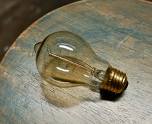 Edison Globe Light Bulb, 60 Watt Antique Spiral Filament, A19 Shape