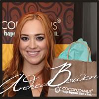 Andrea Bowen at the Emmys enjoying Cocopotamus Chocolate truffles