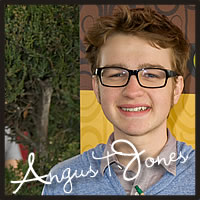 Angus T Jones with best chocolate, best caramel, gluten free chocolates at the Golden Globe Awards for celebrities