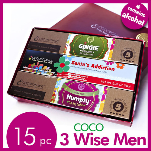 Coco 3 Wise Men: Holidays Gift Idea for Christmas and Hanukkah -  Assorted Truffle Gift Set