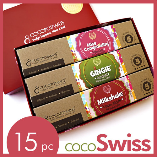 CocoSwiss: assorted milk chocolate truffle gift set