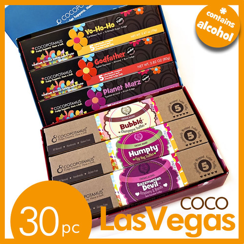 CocoLasVegas - assorted truffle gift set with liqueur