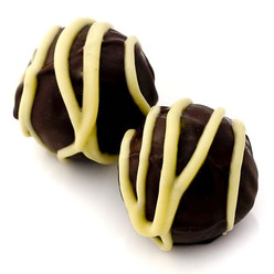 Lemon Shiver: dark chocolate truffles with organic Californian lemon