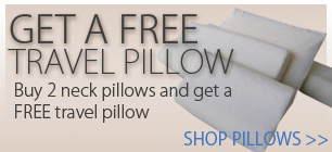 Buy 2 neck pillows and get a free travel pillow.