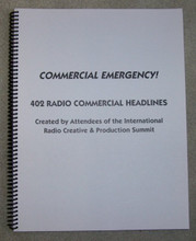 COMMERCIAL EMERGENCY BOOK RADIO COPYWRITING ADVERTISING HEADLINES