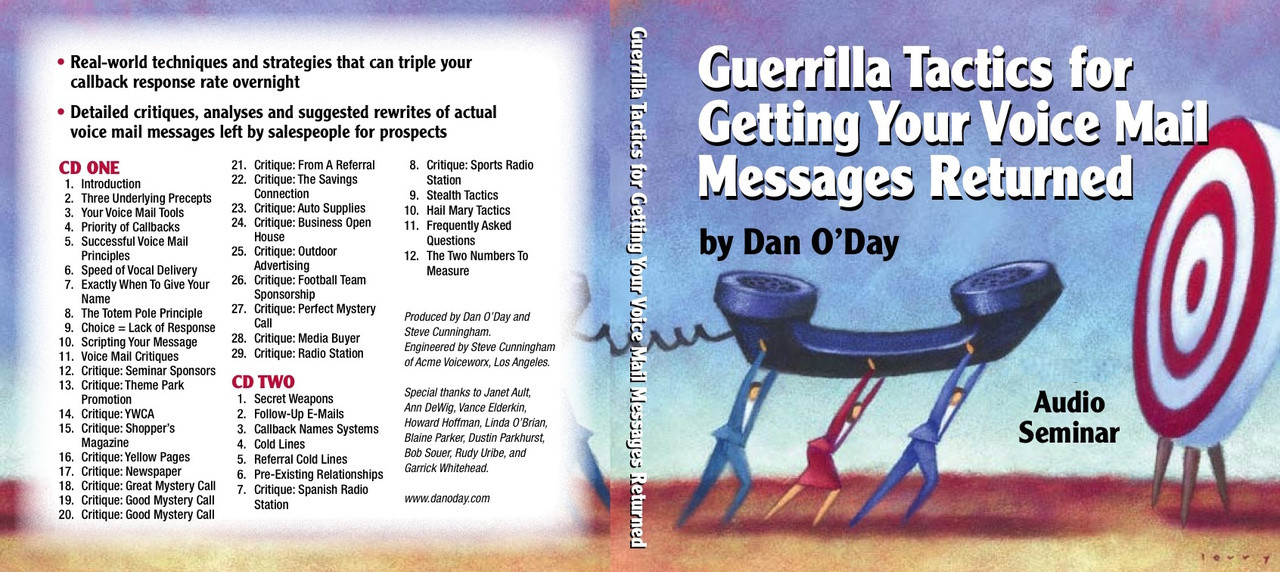 GUERRILLA TACTICS FOR GETTING YOUR VOICE MAIL MESSAGES RETURNED by Dan  O'Day (mp3)