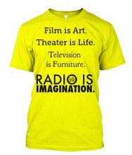 Television = Furniture. Radio = Imagination t-shirt