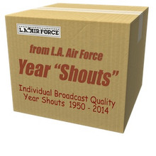 Radio jingle shouts for each year from 1950 through 2014. Instant download!