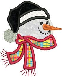 No 150 Applique Snowman Machine Embroidery Designs