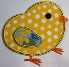 Picture of the Satin Stitch Applique Chick
